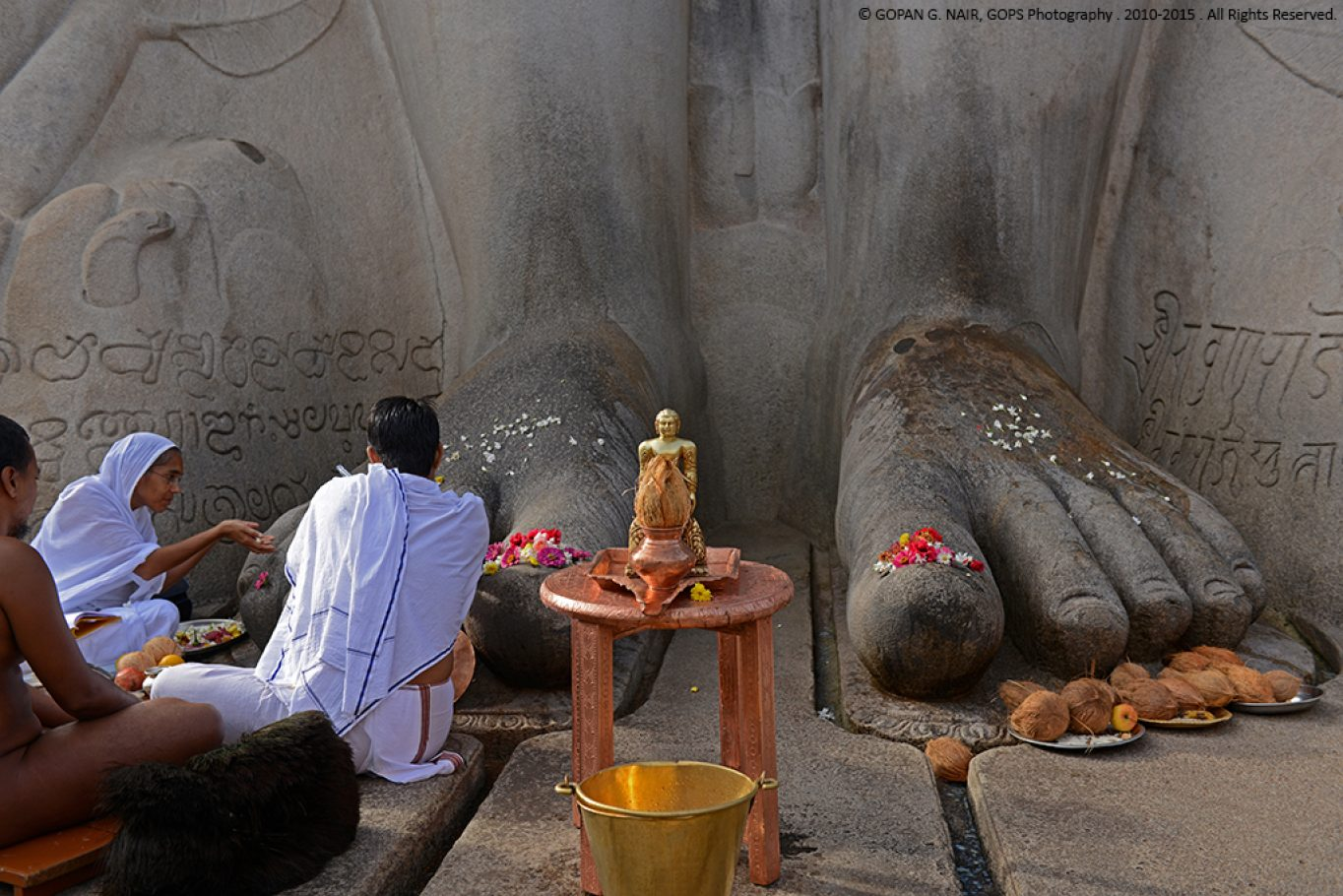AT THE FEET OF BAHUBALI, SHRAVANABELAGOLA