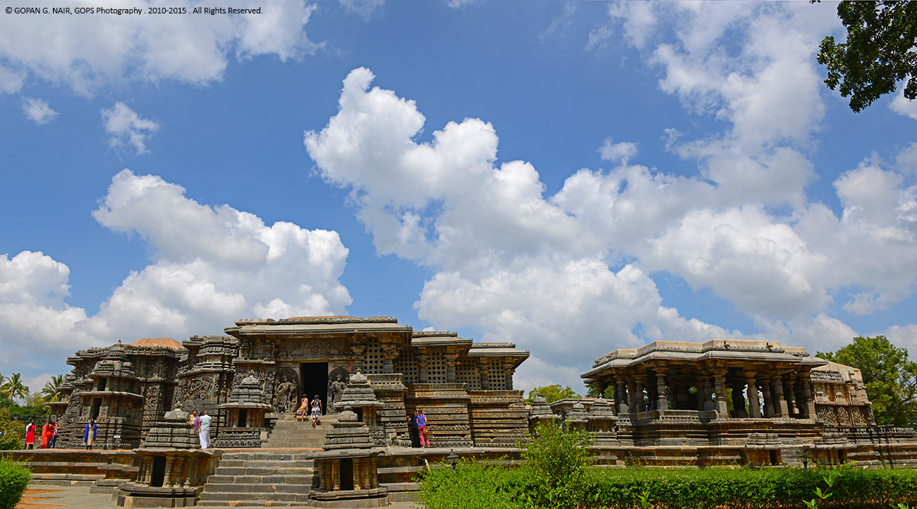 Full view of Halebid Temple Complex . Hoysaleshwara Temple & Kedareshwara Temple