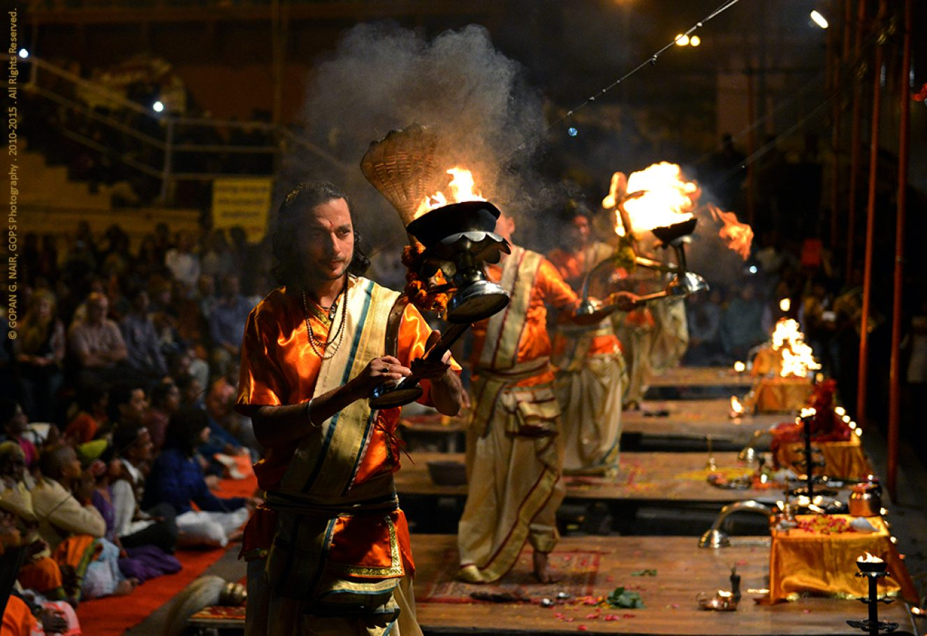 GANGA AARTI (RIVER WORSHIP) AT VARANASI