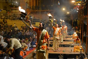 GANGA AARTI ( RIVER WORSHIP) AT DASHASHWAMEDH GHAT