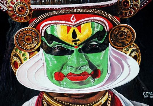 Kathakali character by Kalamandalam Balasubramanian