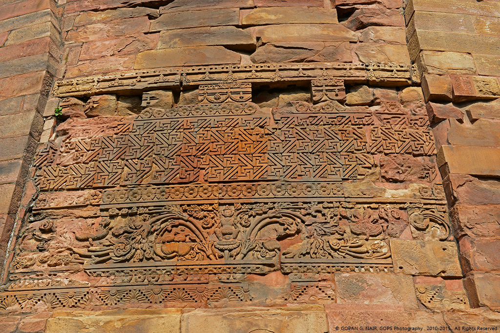 WALL OF DHAMEK STUPA, SARNATH, INDIA