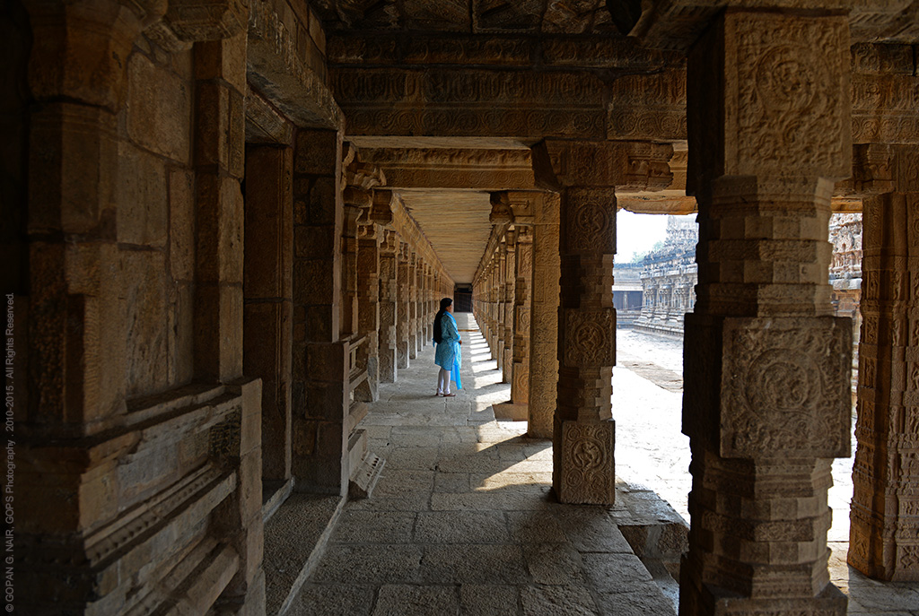 THE LONG CORRIDOR AROUND AIRAVATESVARA TEMPLE AT DARASURAM