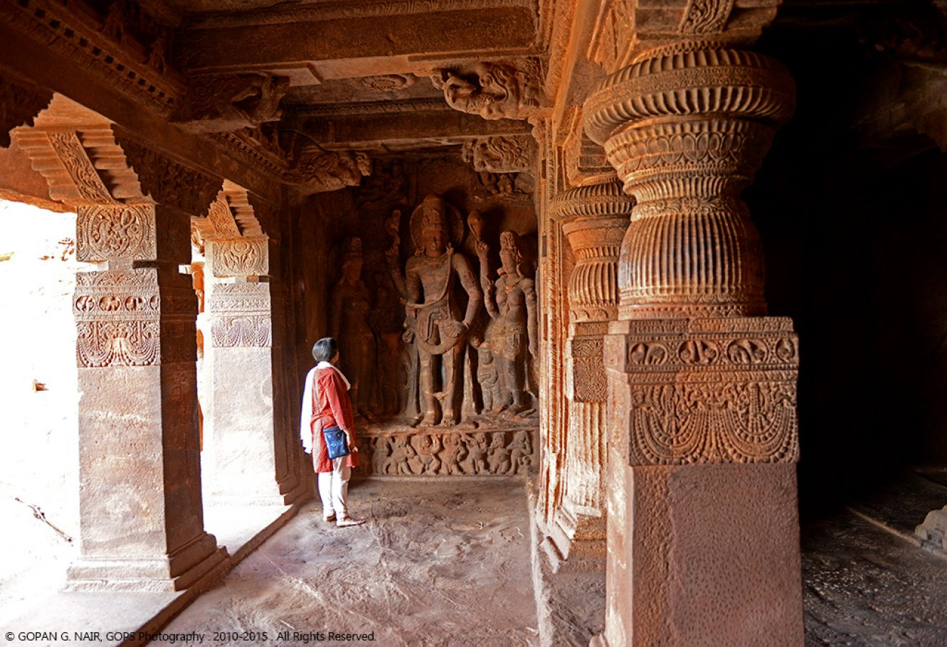 MAGNIFICENT ROCK CUT TEMPLES, BADAMI CAVES, KARNATAKA, INDIA