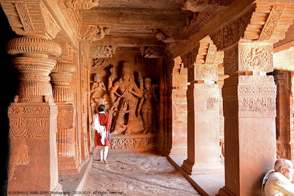 INTERIOR OF CAVE-1 LORD SHIVA STATUES