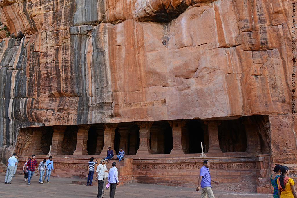 CAVE-3 : VISHNU SHRINE. THE BIGGEST AMONG BADAMI CAVE TEMPLES