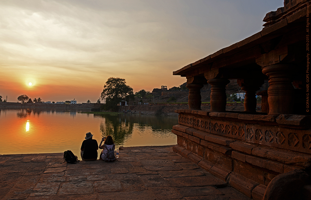 WHEN THE SUN SETS BEHIND THE AGASTHYA LAKE