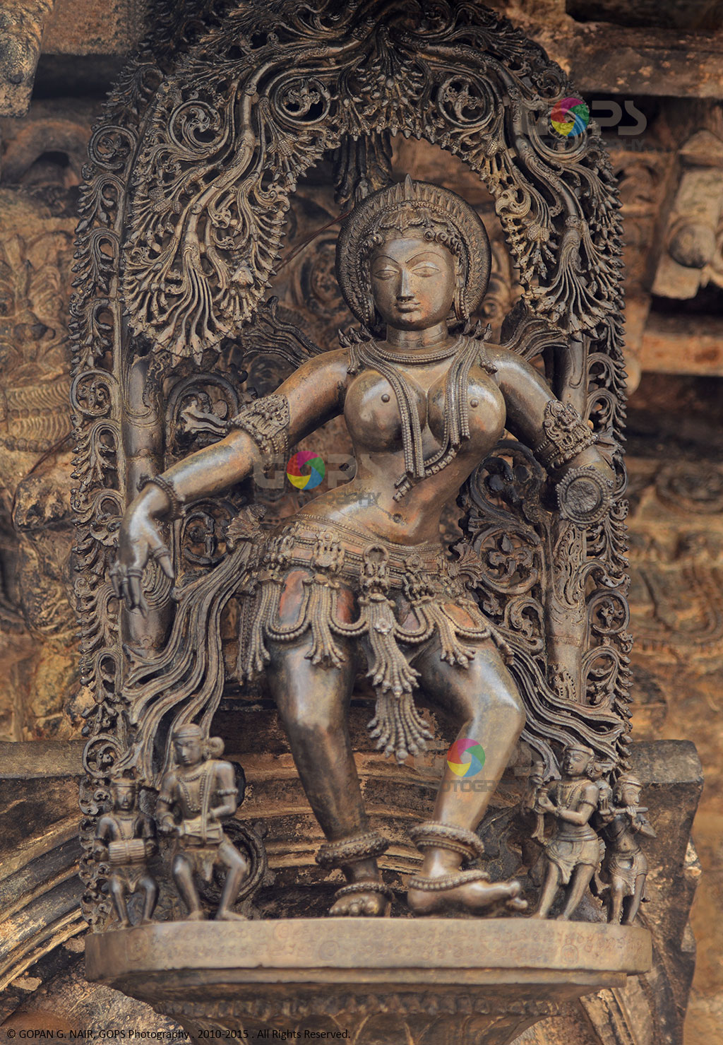 THE ARCH DANCER. LOOK AT THE INTRICATE ART WORK AROUND THE HEAD OF THIS DANCER MOTIF