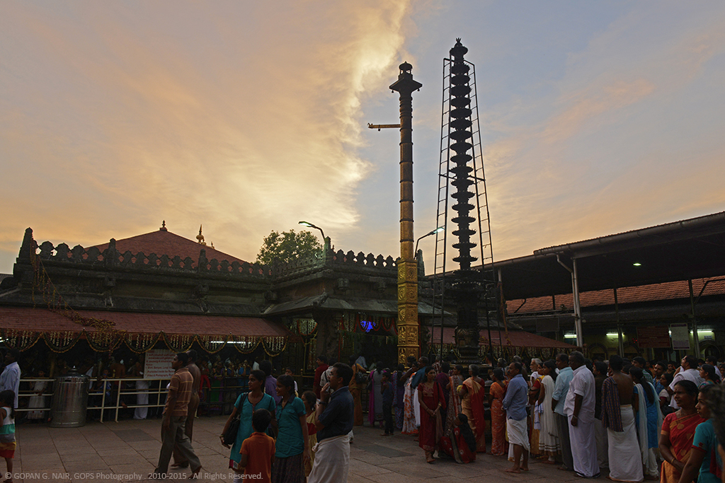 INSIDE KOLLUR MOOKAMBIKA TEMPLE : DEVOTEES WAITING FOR EVENING POOJA