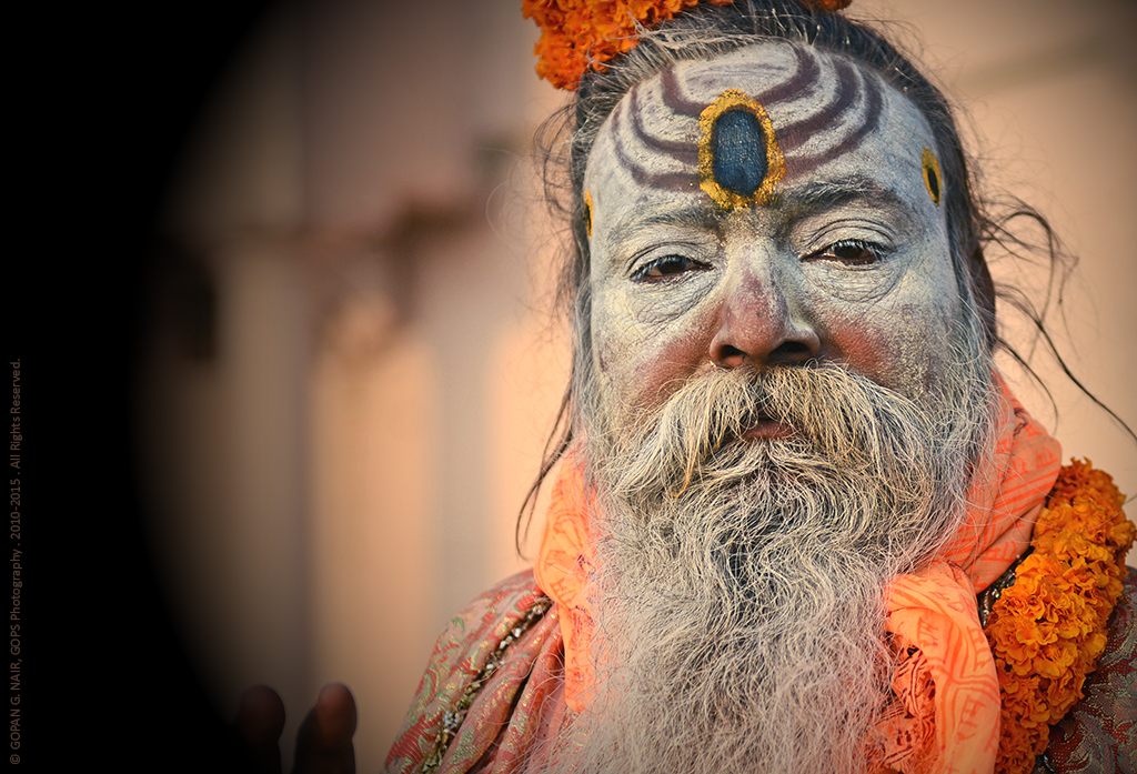 A SADHU OR HOLY MAN WHO BLESSED ME NEAR THE GHATS
