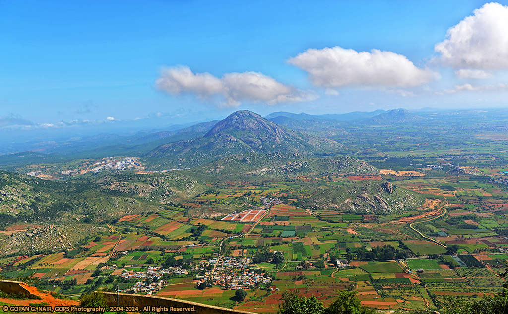 NANDI VILLAGE VIEWED FROM THE TOP OF NANDI HILLS