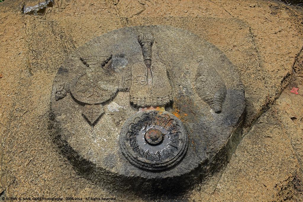 FOOT IMPRESSIONS OF LORD VISHNU AT PANCHATHEERTHAM POND