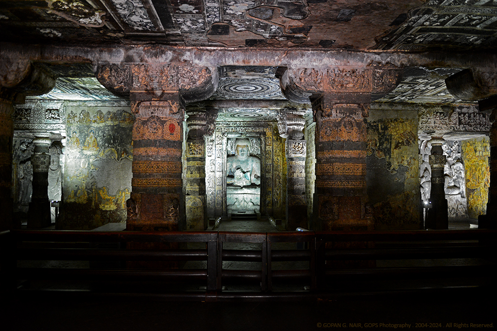 EXQUISITE WORK OF ART AT CAVE-2, AJANTA CAVES