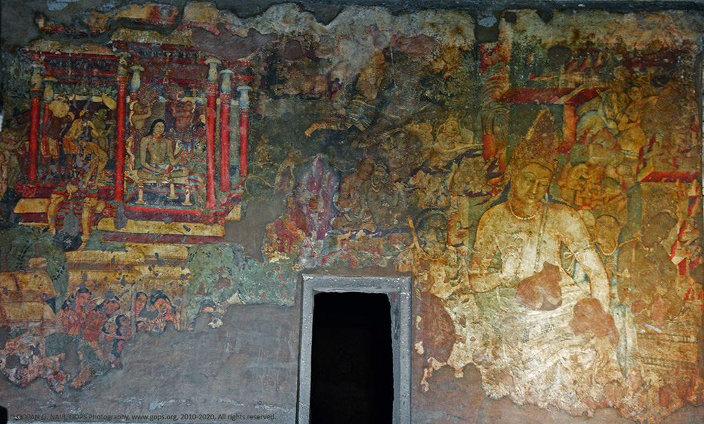 Gops ajanta caves when rocks tell stories for Ajanta mural painting