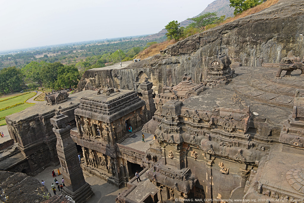 KAILASA TEMPLE VIEWED FROM THE TOP