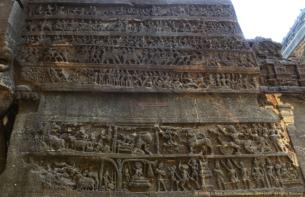 CLOSER LOOK AT THE CARVINGS DEPICTING STORIES FROM EPIC RAMAYANA, MAHABHARATA
