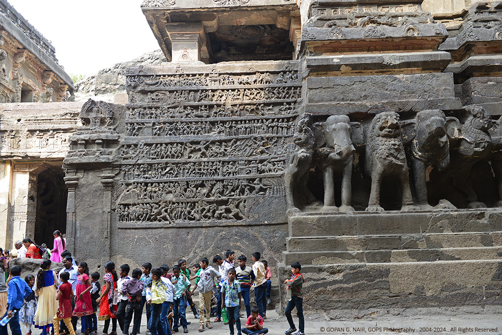 CARVINGS DEPICTING STORIES FROM EPIC RAMAYANA, MAHABHARATA