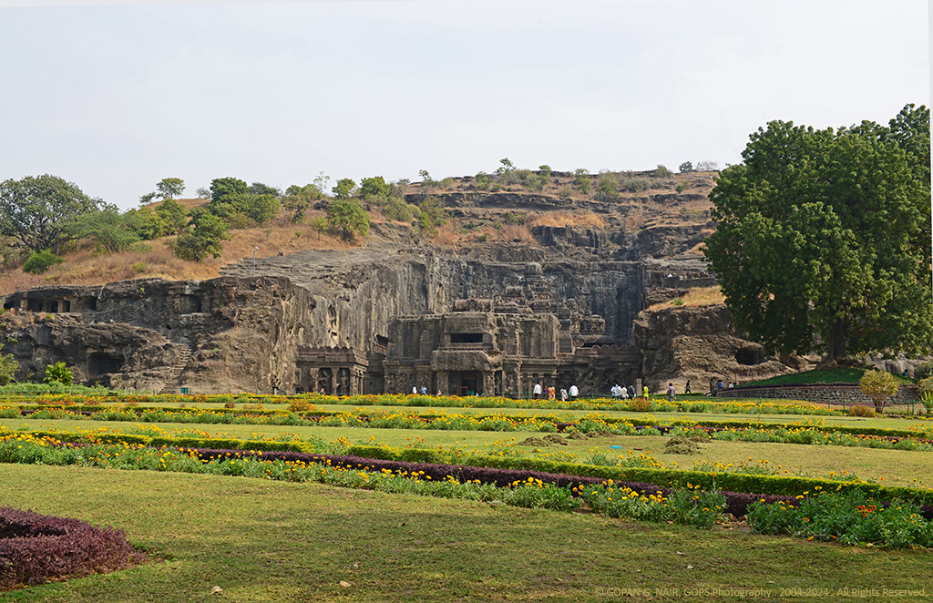 INSIDE THE SANCTUM OF KAILASA TEMPLE, ELLORA